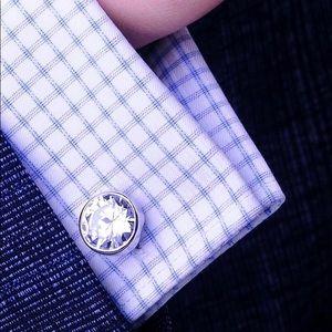 Men's High Quality Luxury Crystal Cufflinks